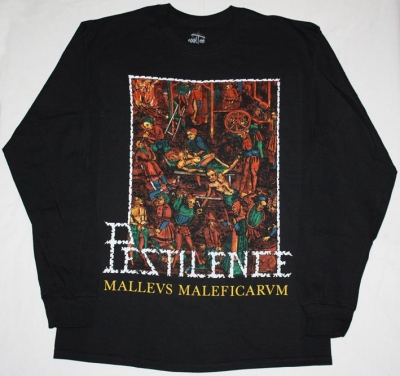 PESTILENCE MALLEUS MALEFICARUM'88 NEW BLACK LONG SLEEVE T-SHIRT
