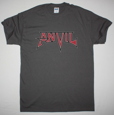 ANVIL LOGO NEW GREY CHRACOAL T SHIRT