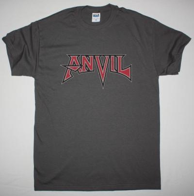 ANVIL LOGO NEW GREY CHRACOAL T SHIRT