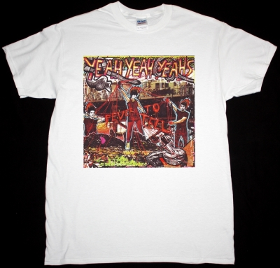 YEAH YEAH YEAHS FEVER TO TELL NEW WHITE T-SHIRT