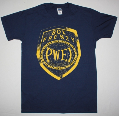 POP WILL EAT ITSELF BOX FRENZY NEW NAVY BLUE T SHIRT