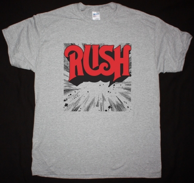 RUSH 1974 NEW SPORTS GREY T SHIRT