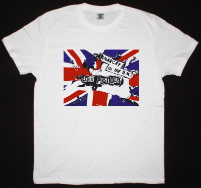 SEX PISTOLS ANARCHY IN THE U.K. NEW WHITE T-SHIRT