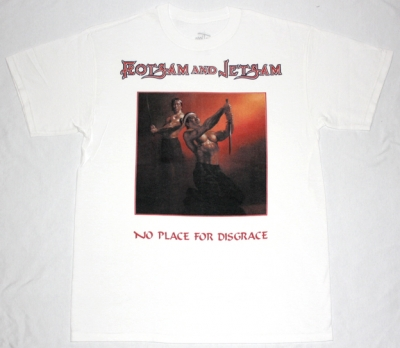 FLOTSAM AND JETSAM NO PLACE FOR DISGRACE'88  NEW WHITE T-SHIRT