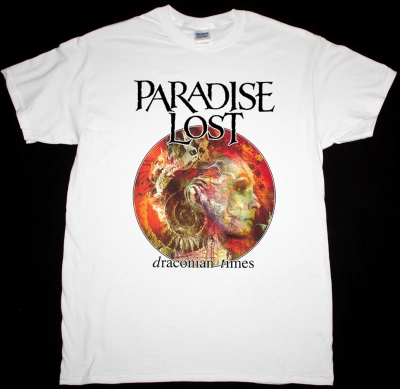 PARADISE LOST DRACONIAN TIMES 1995 NEW WHITE T-SHIRT