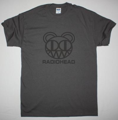 RADIOHEAD KID A BEAR NEW GREY CHARCOAL T-SHIRT