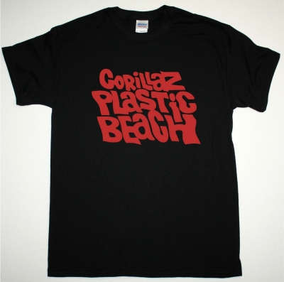 GORILLAZ PLASTIC BEACH NEW BLACK T SHIRT