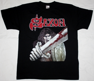 SAXON FIRST ALBUM '79 NEW BLACK T-SHIRT