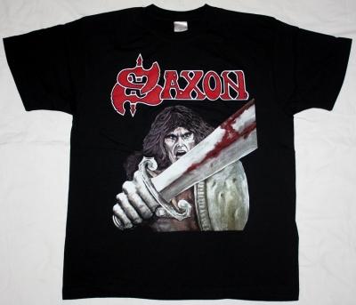 SAXON FIRST ALBUM '79 NEW BLACK T-SHIRT