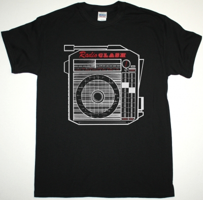 THE CLASH RADIO CLASH NEW BLACK T-SHIRT