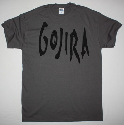 GOJIRA SCRATCHED LOGO NEW GREY CHRACOAL T SHIRT