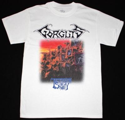 GORGUTS THE EROSION OF SANITY'93 NEW WHITE T-SHIRT