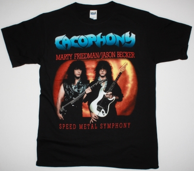 CACOPHONY SPEED METAL SYMPHONY MARTY FRIEDMAN JASON BECKER NEW BLACK T-SHIRT