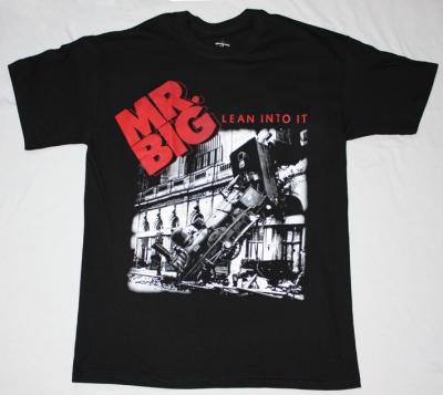 MR BIG LEAN INTO IT'91  NEW BLACK T-SHIRT