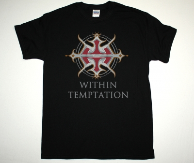 WITHIN TEMPTATION LOGO NEW BLACK T-SHIRT