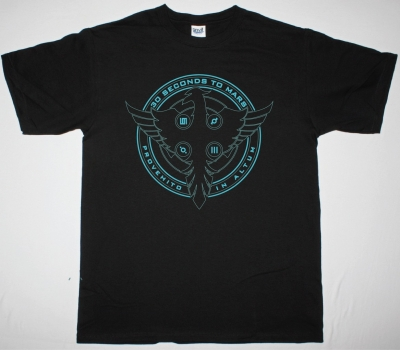 30 SECONDS TO MARS PHOENIX LOGO NEW BLACK T-SHIRT