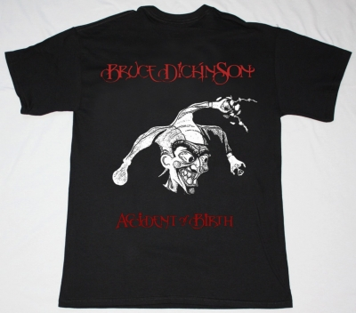 BRUCE DICKINSON ACCIDENT AT BIRTH NEW BLACK T-SHIRT