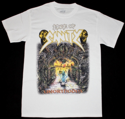 EDGE OF SANITY UNORTHODOX'92 NEW WHITE T-SHIRT