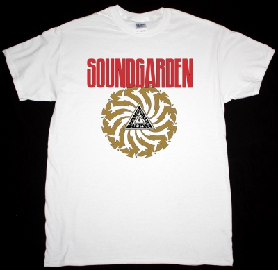 SOUNDGARDEN BADMOTORFINGER 1991 NEW WHITE T-SHIRT