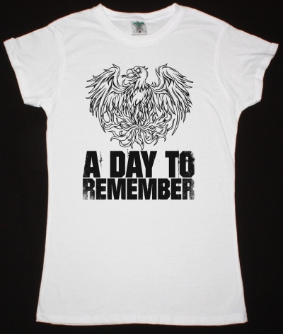 A DAY TO REMEMBER EAGLE NEW WHITE LADY T-SHIRT