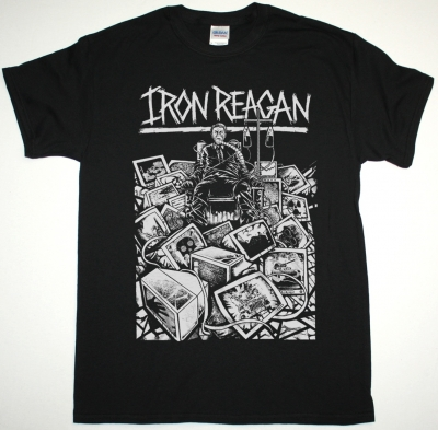 IRON REAGAN BLEEDING FRENZY NEW BLACK T-SHIRT