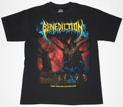 BENEDICTION THE GRAND LEVELLER'91 NEW BLACK T-SHIRT