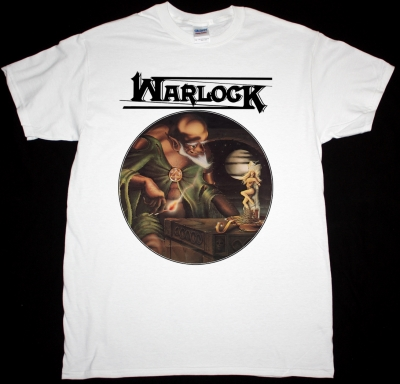 WARLOCK BURNING THE WITCHES 1984  NEW WHITE T-SHIRT