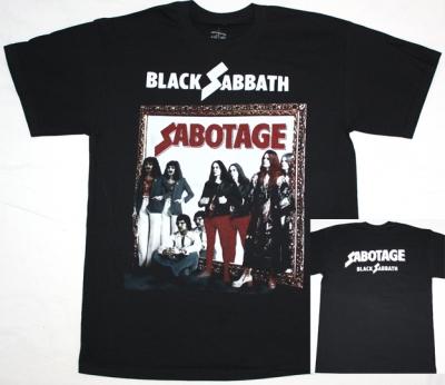 BLACK SABBATH SABOTAGE NEW BLACK T-SHIRT