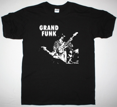 GRAND FUNK RAILROAD BAND NEW BLACK T-SHIRT