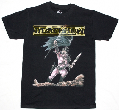 DEATHROW RAGING STEEL'87 NEW BLACK T-SHIRT