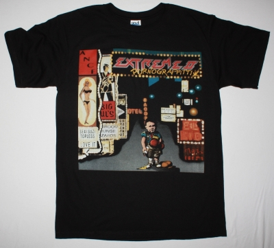 EXTREME II PORNOGRAFFITTY 1990 NEW BLACK T-SHIRT