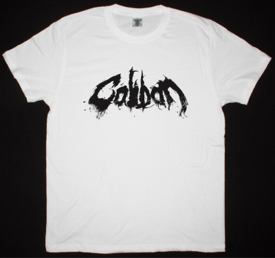 CALIBAN LOGO NEW WHITE T-SHIRT