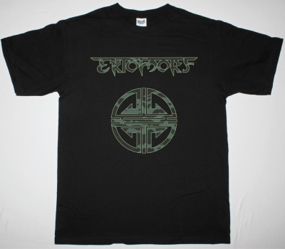 EKTOMORF CAMO PATTERN LOGO NEW BLACK T-SHIRT
