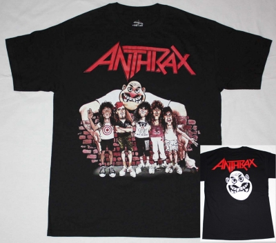 ANTHRAX STATE OF EUPHORIA CARTOON NEW BLACK T-SHIRT