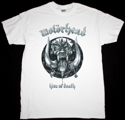 MOTORHEAD KISS OF DEATH NEW WHITE T-SHIRT
