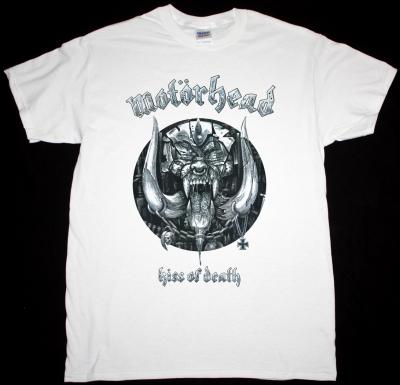MOTORHEAD KISS OF DEATH NEW WHITE T-SHIRT