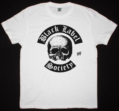 BLACK LABEL SOCIETY LOGO NEW WHITE T-SHIRT