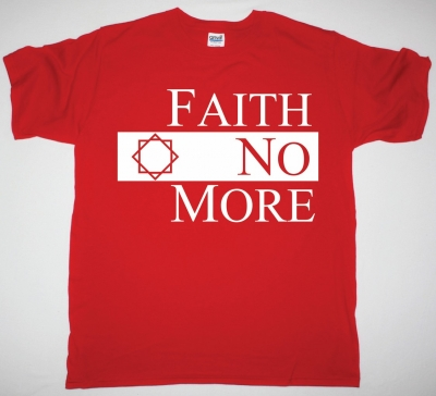 FAITH NO MORE CLASSIC LOGO NEW RED T-SHIRT