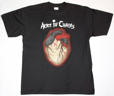 ALICE IN CHAINS BLACK GIVES WAY TO BLUE  NEW BLACK T-SHIRT