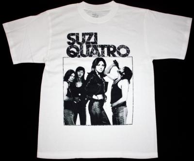 SUZI QUATRO SUZI QUATRO'73 NEW WHITE T-SHIRT