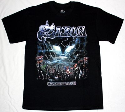 SAXON ROCK THE NATIONS '86 NEW BLACK T-SHIRT