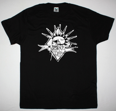 MOB47 SKULL LOGO NEW BLACK T SHIRT