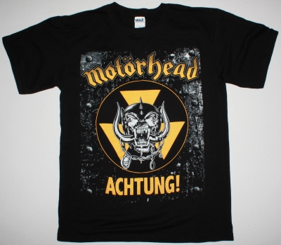 MOTORHEAD ACHTUNG! NEW BLACK T-SHIRT