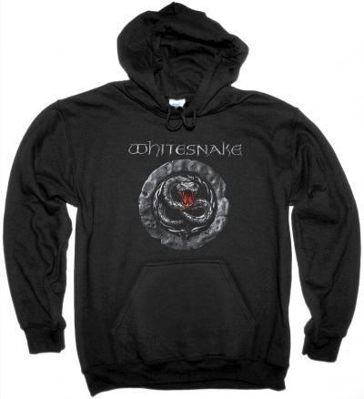 WHITESNAKE GREY SIGN NEW BLACK HOODIE