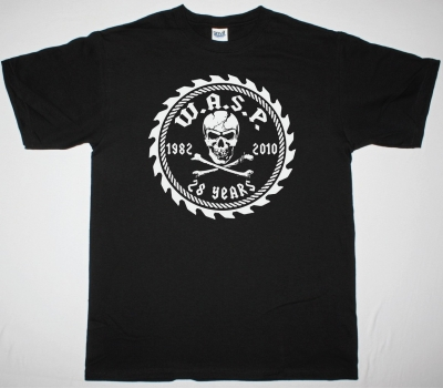 W.A.S.P. 28  ANNIVERSARY SHIRT NEW BLACK T-SHIRT