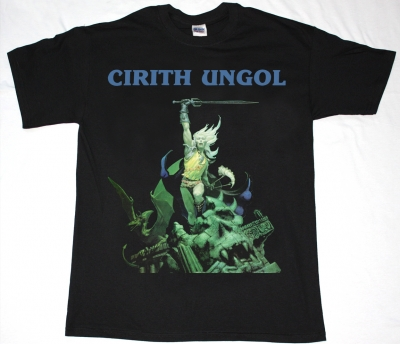 CIRITH UNGOL FROST AND FIRE 1980 NEW BLACK T-SHIRT