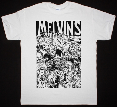MELVINS TOUR TEE NEW WHITE T SHIRT