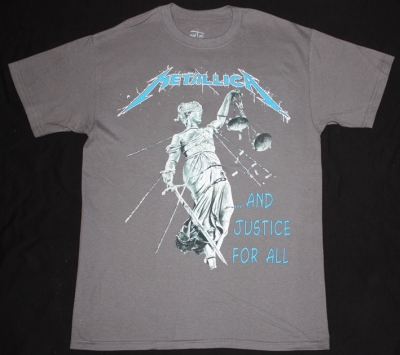 METALLICA AND JUSTICE FOR ALL'88 NEW GREY T-SHIRT
