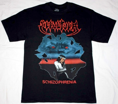 SEPULTURA SCHIZOPHRENIA NEW RARE BLACK T-SHIRT
