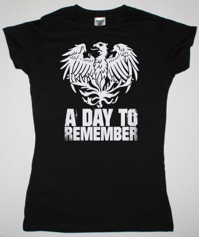 A DAY TO REMEMBER EAGLE NEW BLACK LADY  T-SHIRT